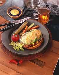 Open-Faced Reuben with Mustard-Caraway Hollandaise