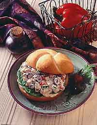 Mediterranean Chicken Salad Sandwich