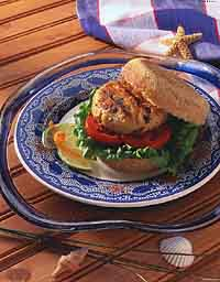 Fresh Rockfish Burger