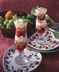 Triple Berry Breakfast Parfaits