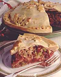 Cranberry Apple Nut Pie