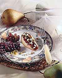 Cranberry-Walnut Pear Wedge