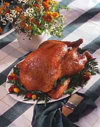 Grilled Turkey with Cranberry Sauce