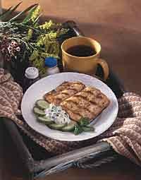 Mediterranean Mahimahi with Creamy Herb Sauce