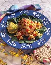 Grilled Tuna and Succotash Salad