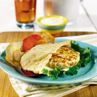 Chicken Patty with Lemon-Mustard Sauce