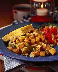 Southwestern Chicken and Potato Hash