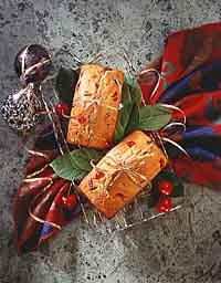 Cherry Eggnog Quick Bread