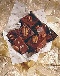 German Chocolate No-Cook Fudge