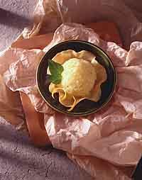 Orange-Thyme Granita in Cookie Cup