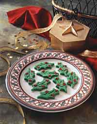 Elegant Holiday Holly Mints