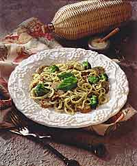 Italian Sausage with Pesto Pasta