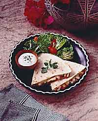 Cheese and Bean Quesadillas