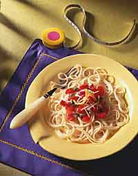 Hot Pasta with Cool Tomato Salsa