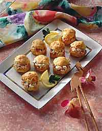 Devilish Crab Puffs