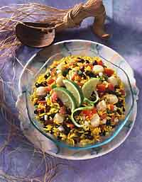 Scallop and Yellow Rice Salad