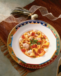 Tortilla Soup with Grouper