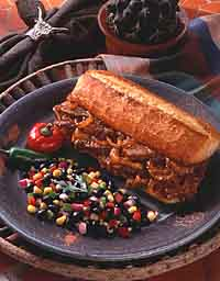 Smoky Barbecued Beef Sandwiches