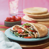 Blackened Chicken Salad in Pitas