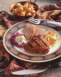 Tandoori-Style Chicken with Cucumber Raita