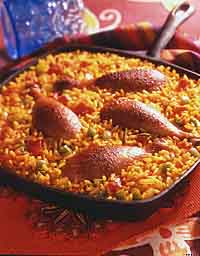 Spanish Rice & Chicken Skillet