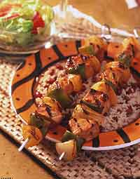 Barbecue Pork Kabobs