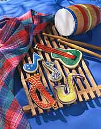 Musical Instrument Cookies