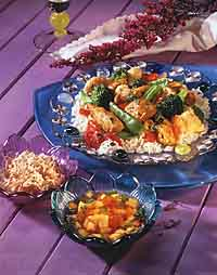 Curried Chicken & Vegetables with Rice