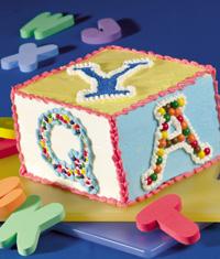 Alphabet Block Cake