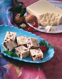 Cherry Walnut White Chocolate Fudge
