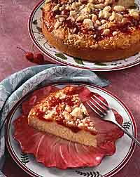 Cherry-Coconut-Cheese Coffee Cake