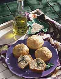 Pesto Surprise Muffins
