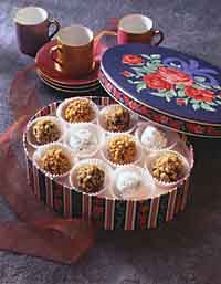 Black Russian, Brandy and Hazelnut Truffles