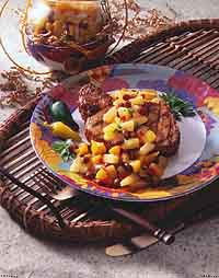 Pineapple-Peach Salsa
