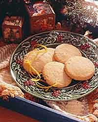 Cashew-Lemon Shortbread Cookies