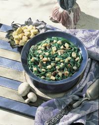 Green Beans with Savory Mushroom Sauce