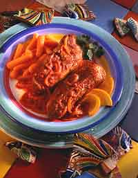 Spareribs Simmered in Orange Sauce