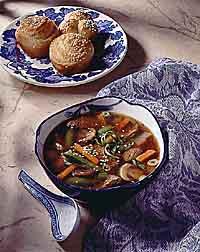 Stir-Fry Beef & Vegetable Soup