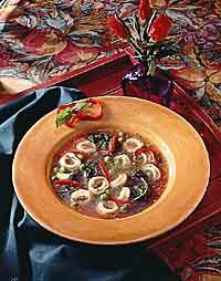 Pesto & Tortellini Soup