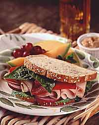 Turkey Sandwich with Roasted Bell Peppers