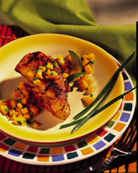 Caribbean Sea Bass with Mango Salsa