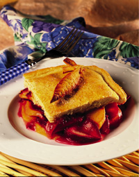 Peach and Plum Cobbler