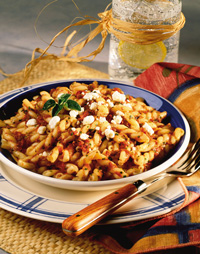 Fire-Roasted Tomatoes with Gemelli Pasta