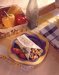 Sassy Southwestern Veggie Wrap