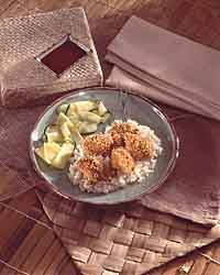 Oriental Chicken Nuggets & Rice