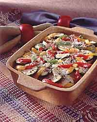 Pepper and Squash Gratin