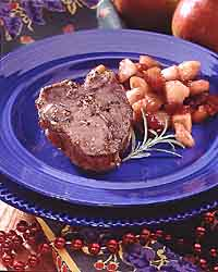 Lamb Chop with Cranberry-Pear Chutney