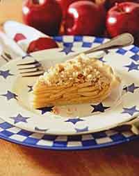 Provençal Apple-Walnut Crumb Pie