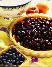 Mixed Berry Tart with Ginger-Raspberry Glaze