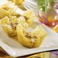 Apricot and Toasted Almond Phyllo Cups